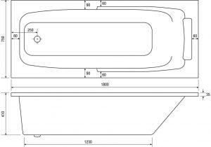 Lena Built-In Bathtub River Range Dimensions