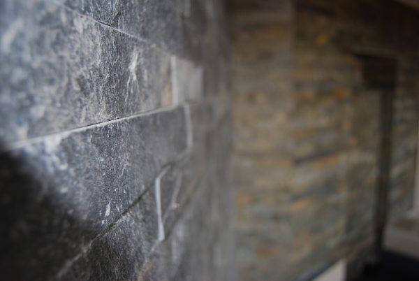 Silver Mist Quartzite Riven Installed Creative